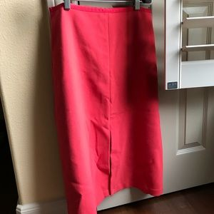 Ann Taylor size 4 midi skirt with inverted pleat